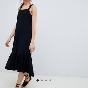 ASOS DESIGN midi black dress